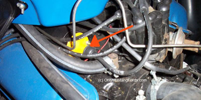 1964.5 ford ignition coil placement