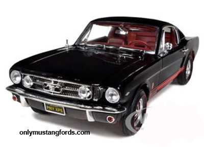 die cast 65 fastback black mustang
