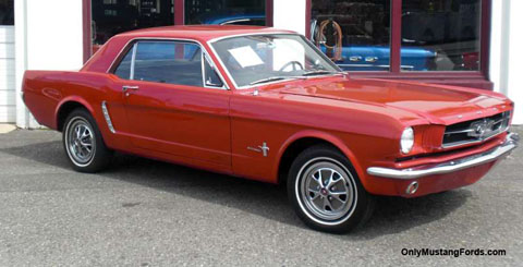 1965 Ford Mustang coupe rangoon red