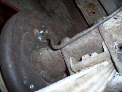 ford mustang brake line
