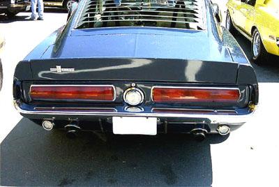 67 shelby mustang gt 500 rear bumper