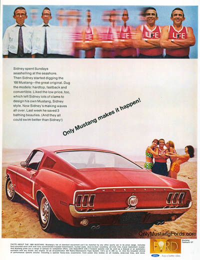 1968 Ford Mustang Print Ad