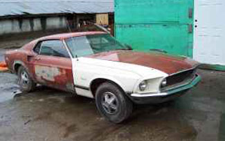 1969 Ford Mustang restoration project car