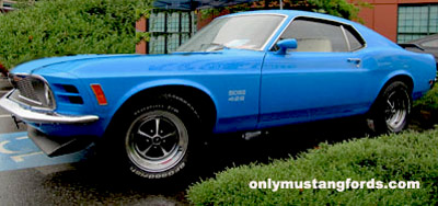 1970 boss 429 painted grabber blue