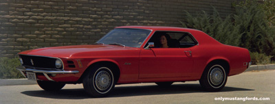 1970 mustang coupe red