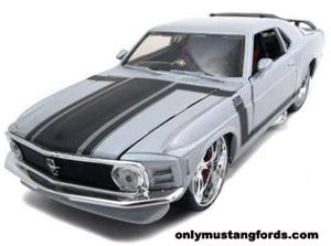 silver mustang boss diecast car