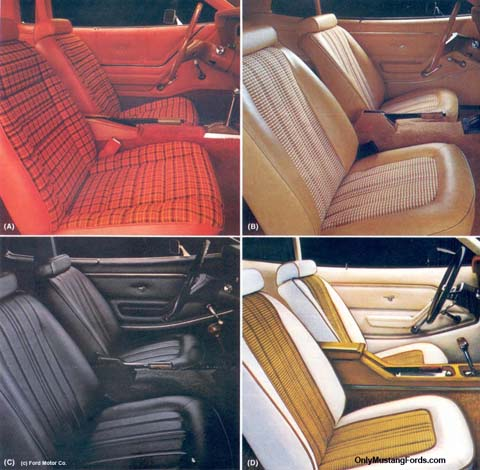 1978 ford mustang interior choices