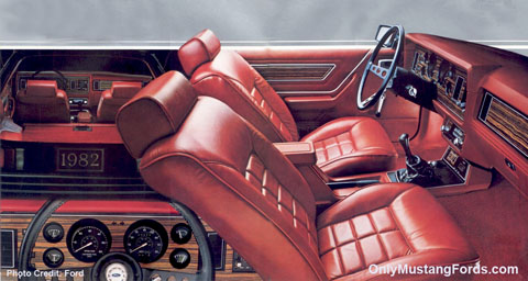 1982 ford mustang interior choices