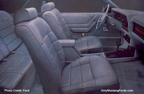 1983 mustang glx leather interior
