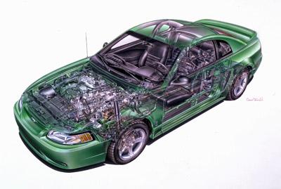 1999 mustang cobra cutaway