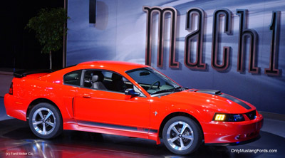 red 2002 ford Mustang Mach 1