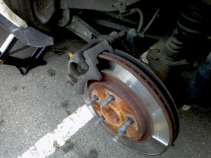 2005 Mustang rear brake replacement