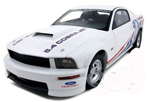 2009 mustang cobrajet white metal car