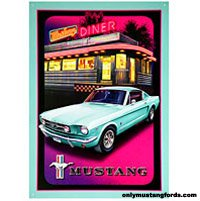 mustang diner sign collectible