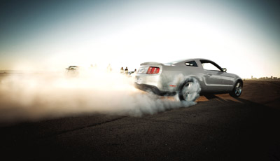 2011 ford mustang burnout