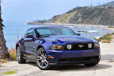 2011 gt mustang at the beach