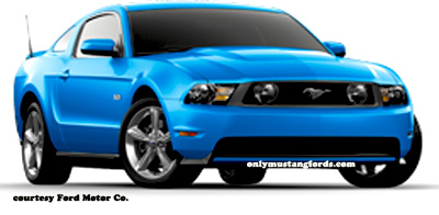 blue 2012 ford mustang