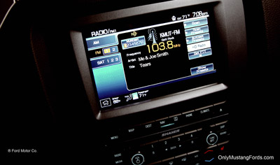 ford sync display