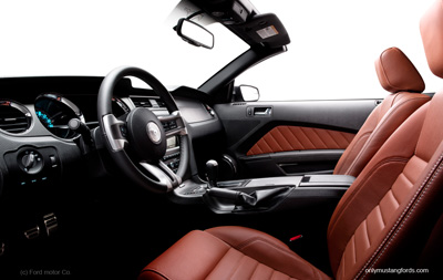 2013 Ford Mustang leather interior
