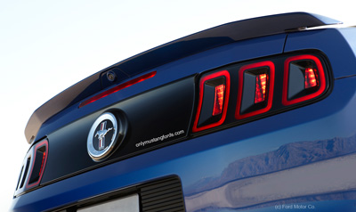 mustang rear blackout panel 2013