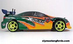 Mustang RC car with racing engine