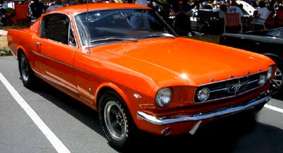 1965 ford mustang gt poppy red