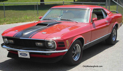Red 1970 Mach 1Mustang