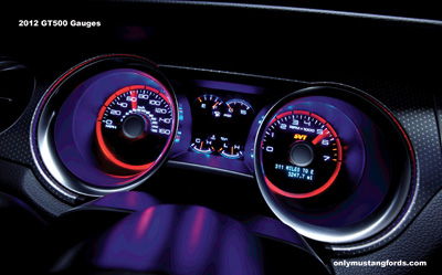 2012 Shelby Mustang gt500 gauges