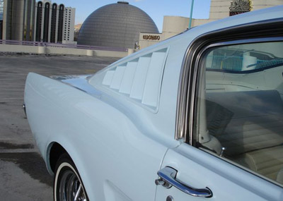 1966 mustang fastback louvers