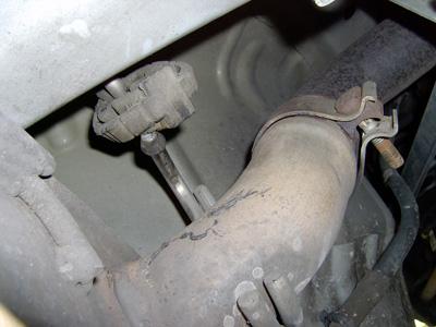 2005 mustang exhaust clamp