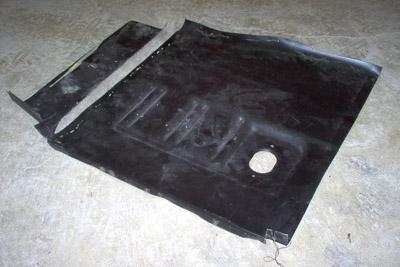 floor pan trimmed mustang