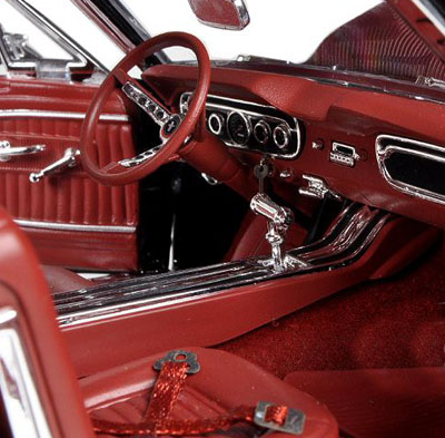 65 ford mustang diecast interior red