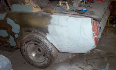 1965 mustang quarter panel repair