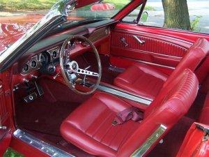 1966 mustang pony interior