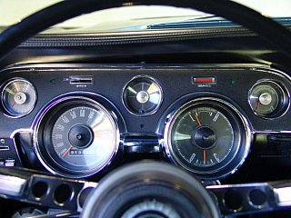 67 mustang instrument cluster