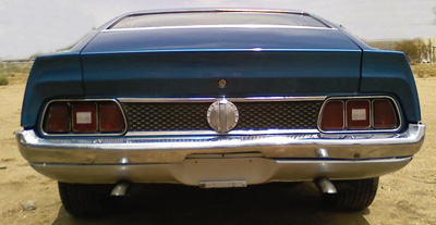 1972 mach 1 honeycomb rear panel