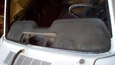 unrestored 1965 Mustang dash