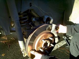 removing rear rotor 2006 Mustang