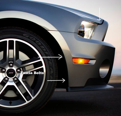 Mustang front fascia bolts