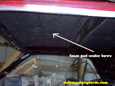 bow headliner insulation