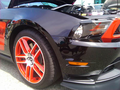 2012 laguna seca boss 302 front spoiler