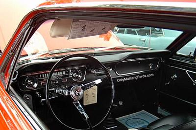 1965 mustang sun visor