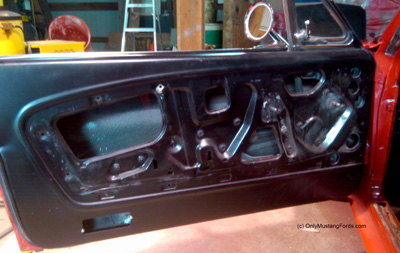 reproduction 1965 mustang door panel