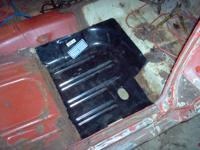 test fit mustang rear floor pan
