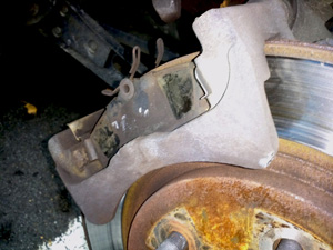 2005 Mustang rear brake pad replacement