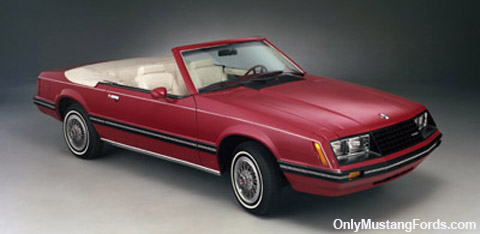 red 1983 convertible mustang