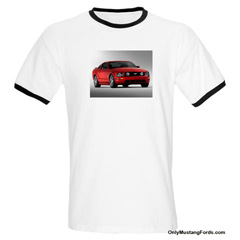 new mustang t shirt white