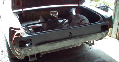 quarter panel body work and shaping