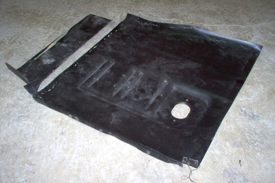 floor pan trimmed mustang