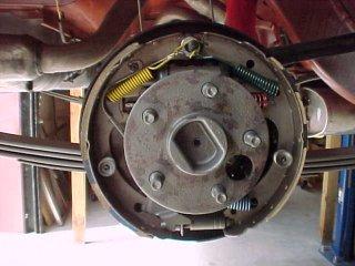 1965 mustang brake shoe assembly
